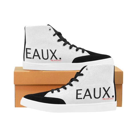 BLACK EAUX. MEN'S HI-TOP SHOES