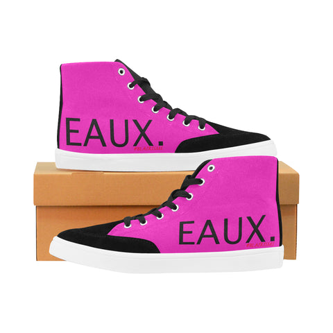 BLACK EAUX. WOMEN'S HI-TOP SHOES