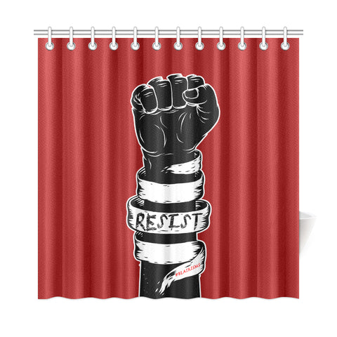 RESIST FIST SHOWER CURTAINS (36X72 & 72X72)
