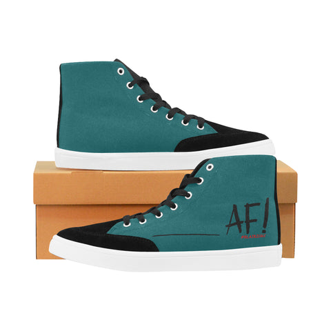 AF BLACK WOMEN'S HI-TOP SHOES