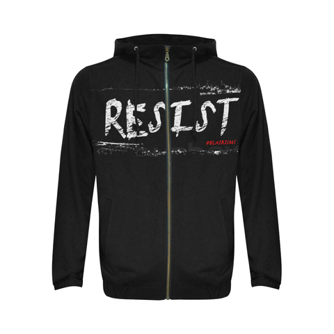 BLACK RESIST FIST HOODIES