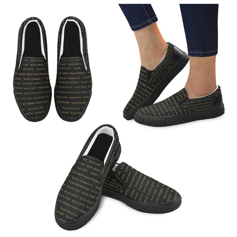 BLACK MAGIC ALLEAUXVER WOMEN'S SLIP ON SHOES