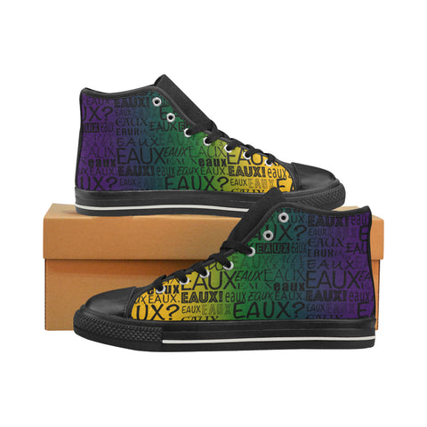 MARDI GRAS MEN'S HI TOP SHOES