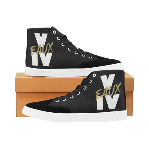 WHITE/GOLD V EAUX IV WOMEN'S HI-TOP SHOES