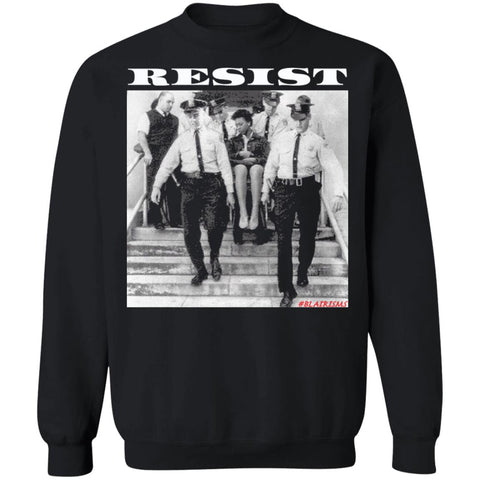 RESIST DORIS CASTLE Black Shirt Crewneck Pullover Sweatshirt
