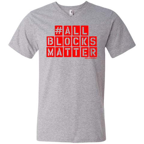 #ALLBLOCKSMATTER (RED) Men's V-Neck