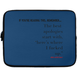 THE BEST APOLOGIES Laptop Sleeve - 13 inch