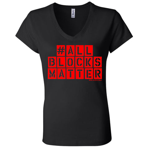#ALLBLOCKSMATTER (RED) Women's V-Neck