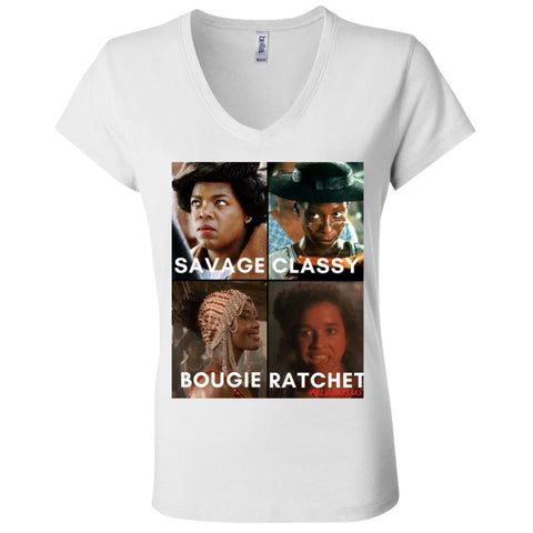 THE COLOR PURPLE #SAVAGE Women's V-Neck