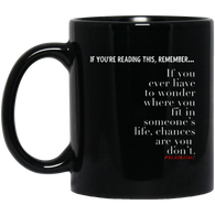 Chances Are 11 oz. Black Mug