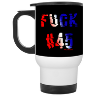 FUCK45 White Travel Mug