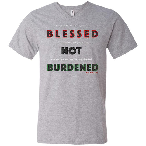 BLESSED NOT BURDENED QUEER AFRICAN Men's V-Neck