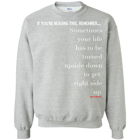 RIGHT SIDE UP Crewneck Pullover Sweatshirt