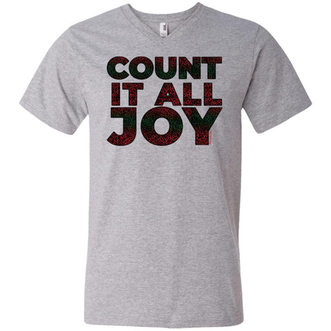 COUNT IT ALL JOY Men's V-Neck