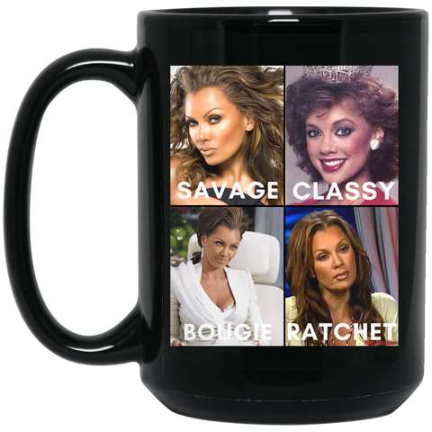 VANESSA WILLIAMS #SAVAGE 15 oz. Black Mug