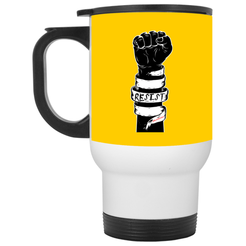 RESIST White Travel Mug