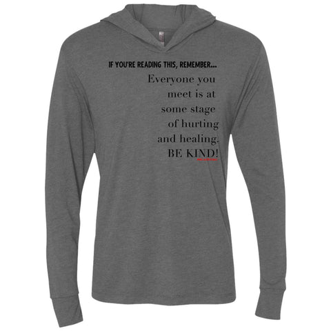 BE KIND Unisex Longsleeve Hooded T-Shirt