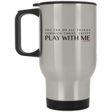 You Can Do All Things Through CHRIST, Except Silver Stainless Travel Mug