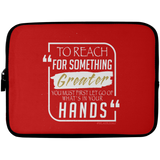 TO REACH FOR SOMETHING GREATER white gold Laptop Sleeve - 10 inch