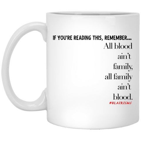 All family 11 oz. White Mug