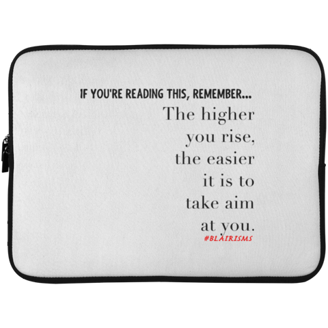 THE HIGHER YOU RISE Laptop Sleeve - 15 Inch