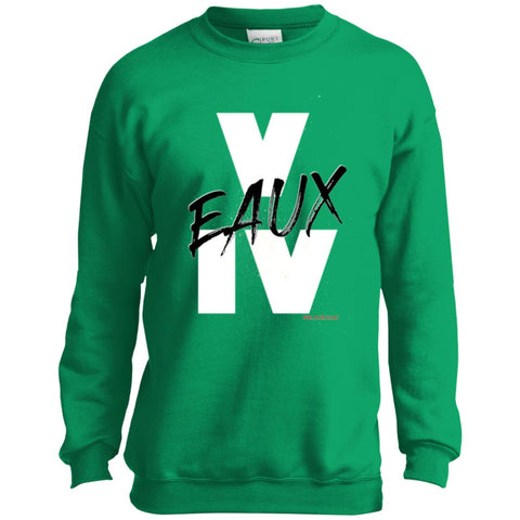 V EAUX IV (BW) Youth Crewneck Sweatshirt
