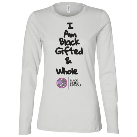 Black, Gifted, & Whole -(black) Women's Longsleeve