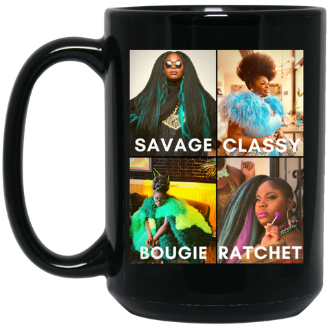 TANK #SAVAGE 15 oz. Black Mug