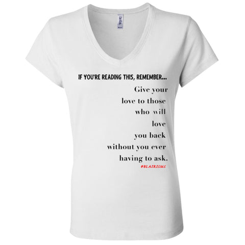 GIVE YOUR LOVE Women's V-Neck