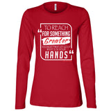 To Reach For Something Greater white red Women's Longsleeve