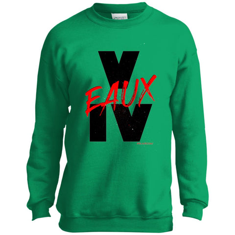 V EAUX IV (RED) Youth Crewneck Sweatshirt