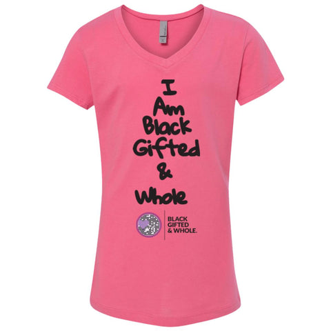 Black, Gifted, & Whole -(black) Girl's V-Neck