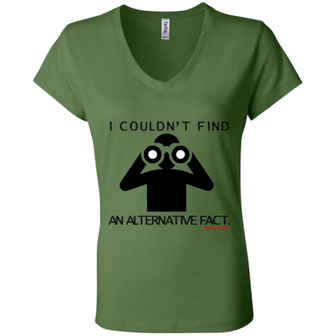 I COULDN'T FIND AN ALTERNATIVE FACT BLACK Women's V-Neck