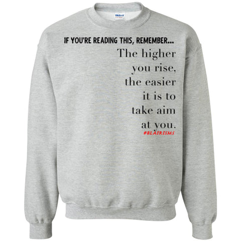 Higher You Rise Crewneck Pullover Sweatshirt