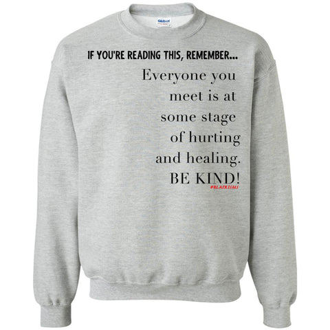BE KIND Crewneck Pullover Sweatshirt
