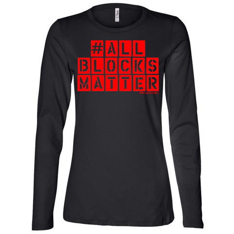 #ALLBLOCKSMATTER (RED) Women's Longsleeve