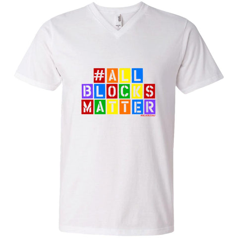 #ALLBLOCKSMATTER Men's V-Neck