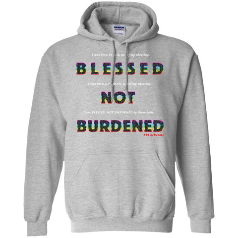 BLESSED NOT BURDENED WOMAN RAINBOW Pullover Hoodie