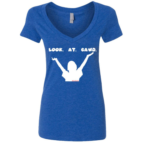 LOOK. AT. GAWD. Women's Deep V-Neck