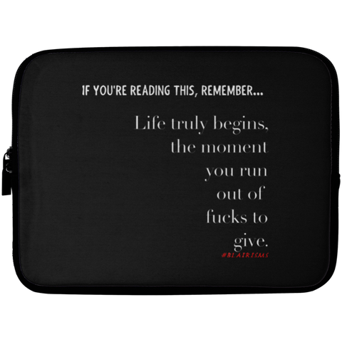 OUT OF FUCKS Laptop Sleeve - 10 inch