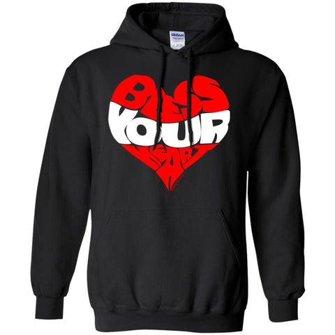 BLESS YOUR HEART WHT Pullover Hoodie