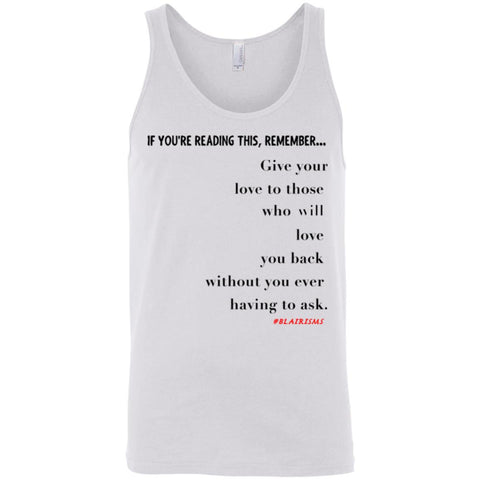 GIVE YOUR LOVE Unisex Tank