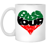 BLESS YOUR HEART BLACK 11 oz. White Mug