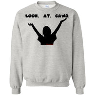 LOOK AT GAWD WHITE Crewneck Pullover Sweatshirt