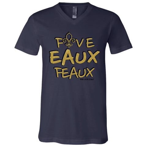 FiveEauxFeaux Gold-&-Black Bot's V-Neck