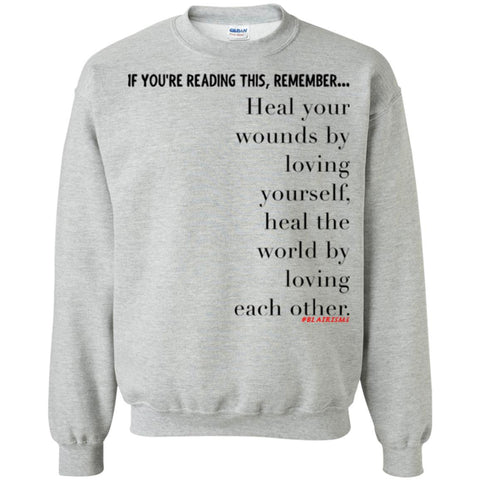 Heal the World Crewneck Pullover Sweatshirt