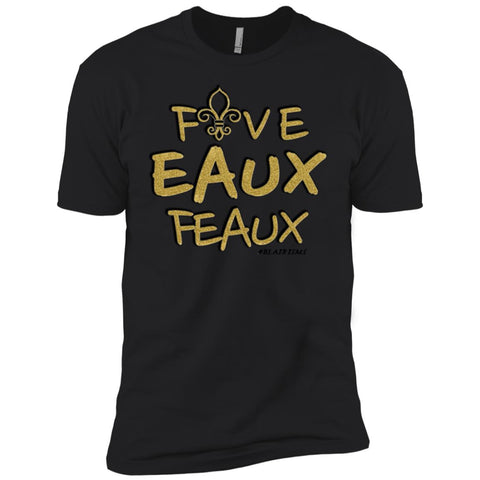 FiveEauxFeaux Gold-&-Black Boy's Crew