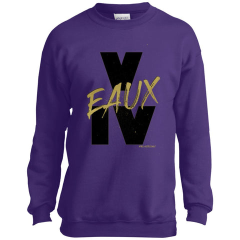 V EAUX IV (BG) Youth Crewneck Sweatshirt