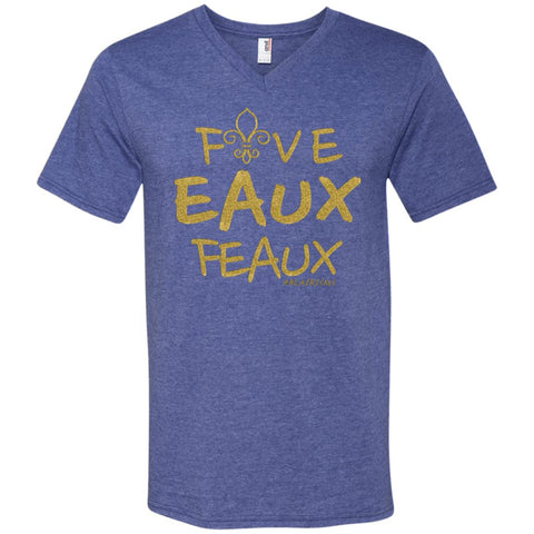 FiveEAUXFeaux GOLD Men's V-Neck