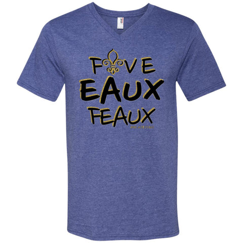 FiveEauxFeaux Black-&-Gold Men's V-Neck